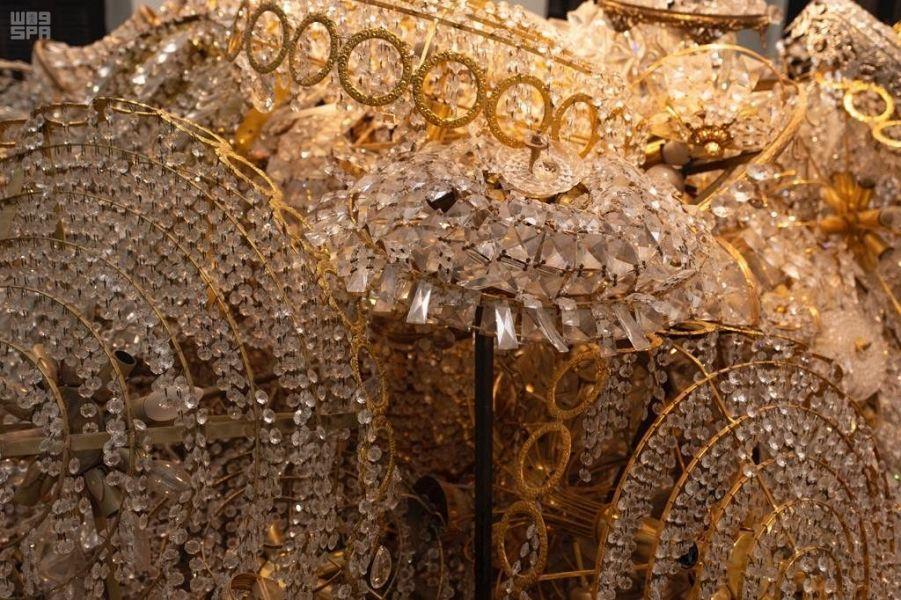 جانب آخر من أعمال معرض القصر الأحمر فى السعودية
