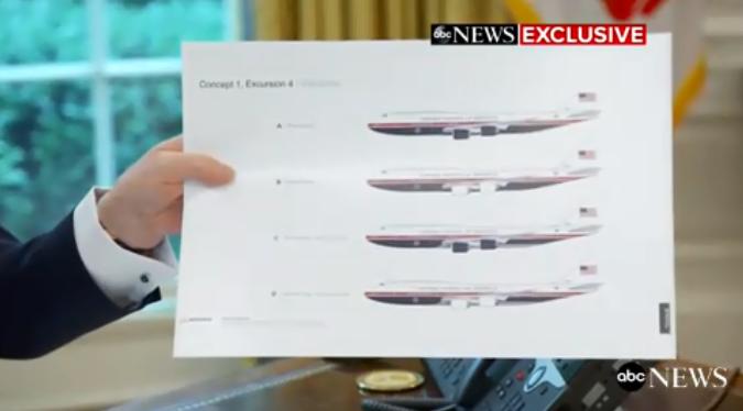 ترامب يعرض التصميمات الجديدة للطائرة الرئاسية الأمريكية