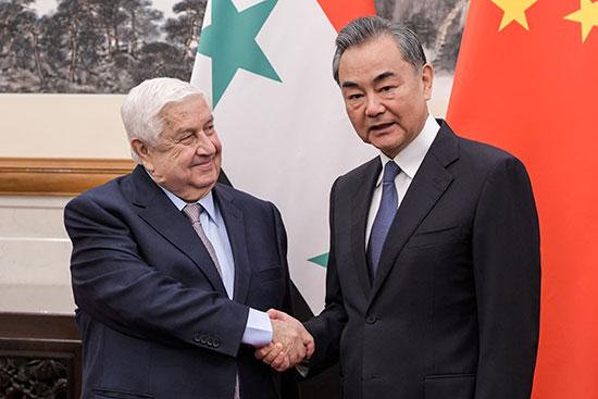 وزير الخارجية الصينى ونظيره السورى