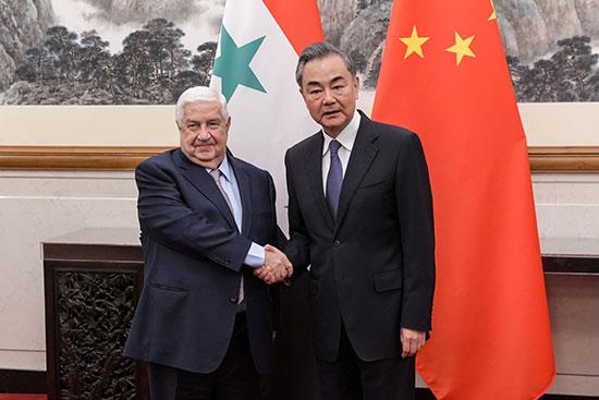 وزير الخارجية السورى وليد المعلم فى الصين