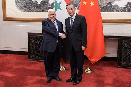 وزير الخارجية السورى ونظيره الصينى