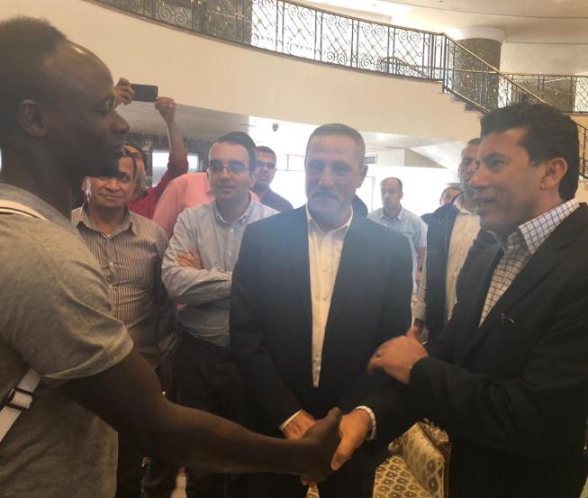 لقاء وزير الرياضة و ساديو مانى