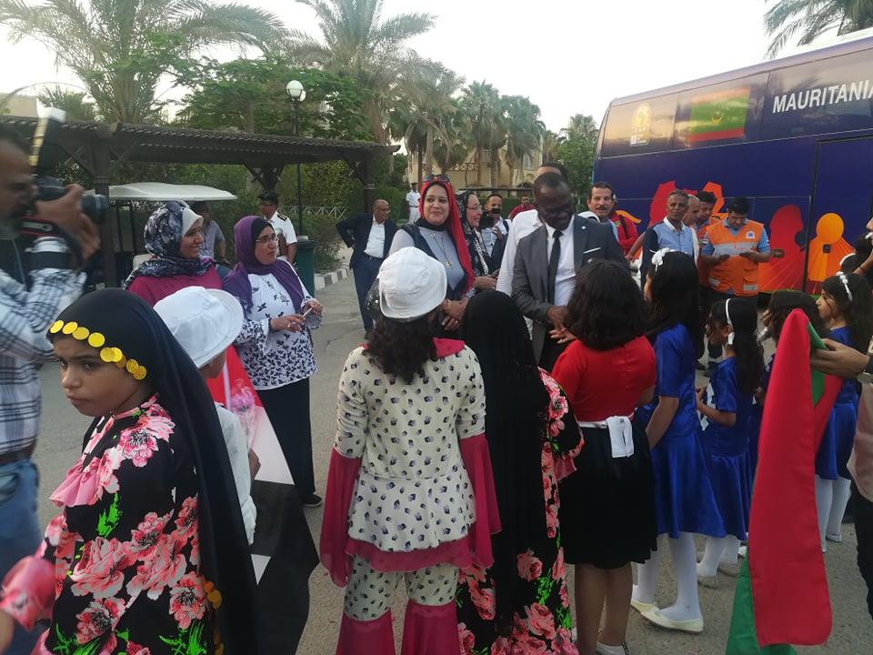 استقبال بعثة منتخب موريتانيا فى العين السخنة (4)