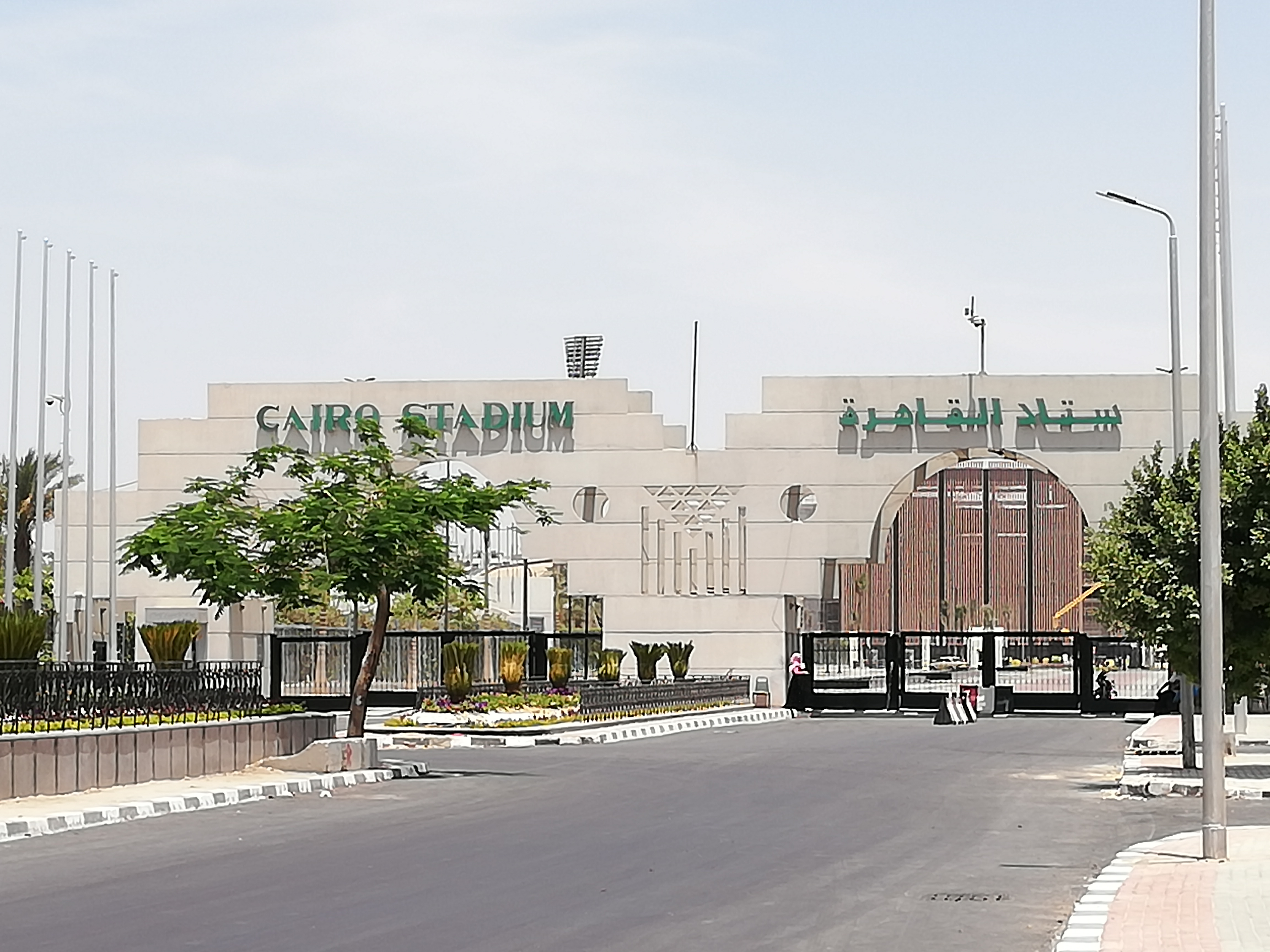 -تجديد بوابة استاد القاهرة