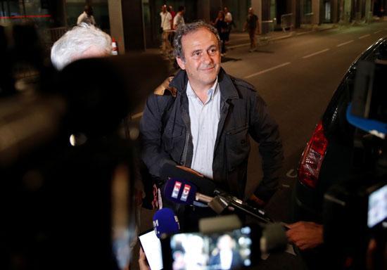 بلاتينى عقب إطلاق سراحه فى فرنسا
