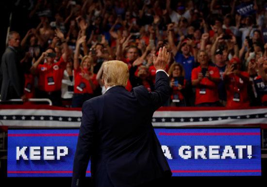 ترامب يحيى مؤيديه فى المؤتمر الانتخابى