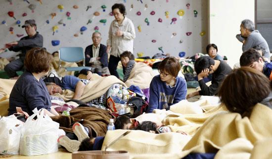 إجلاء مواطنين بسبب زلزال فى اليابان
