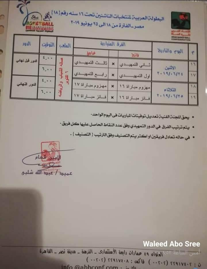 نهائيات البطولة العربية