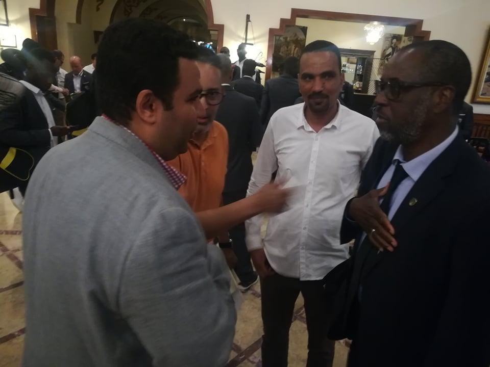 استقبال بعثة منتخب موريتانيا فى العين السخنة (1)