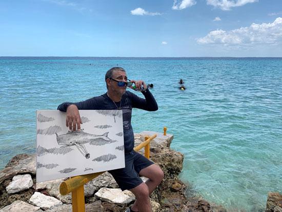 الفنان الكوبى ساندور جونزاليس