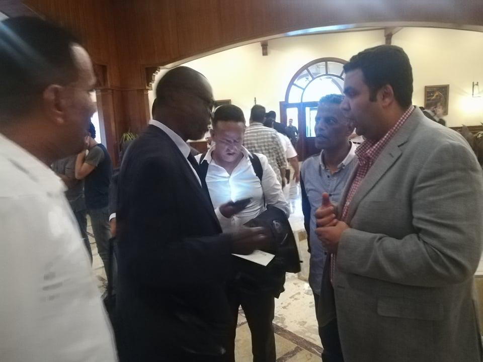 استقبال بعثة منتخب موريتانيا فى العين السخنة (2)