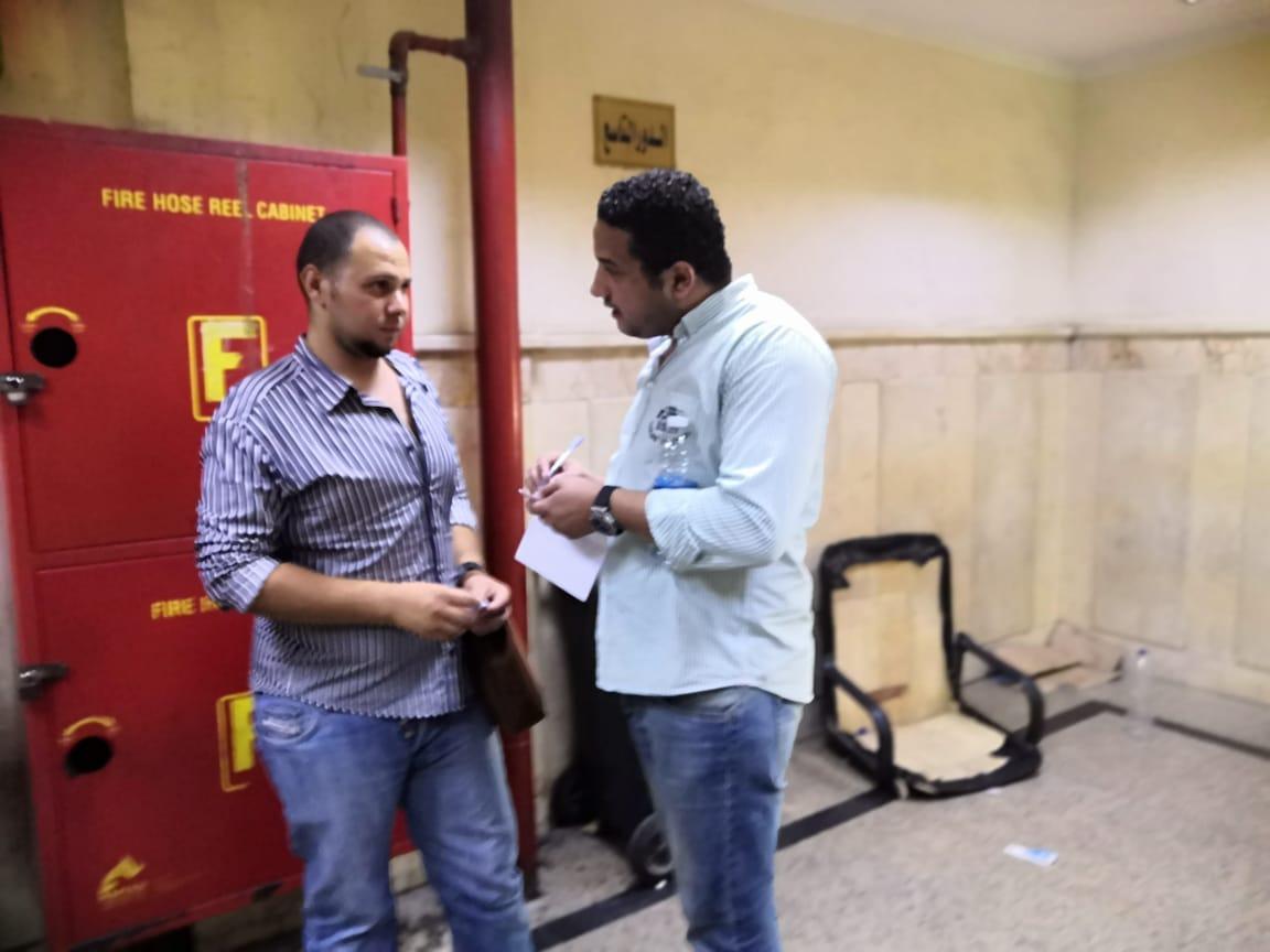 محر ر اليوم السابع مع والد الطفل المخطوف (2)
