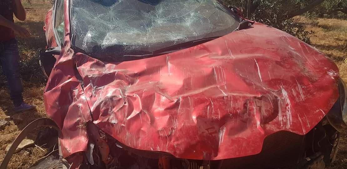 سيارة عهد بعد الحادث