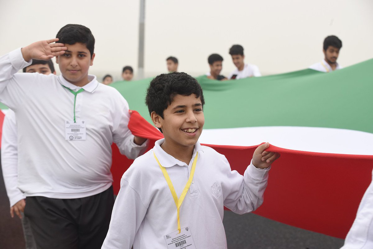 الكويت تنضم لـجينيس بأطول علم فى العالم