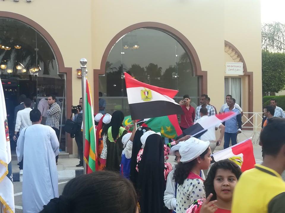 استقبال بعثة منتخب موريتانيا فى العين السخنة (3)