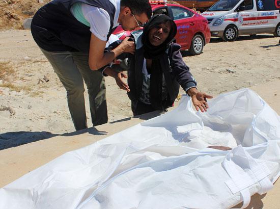 جثة أحد الضحايا