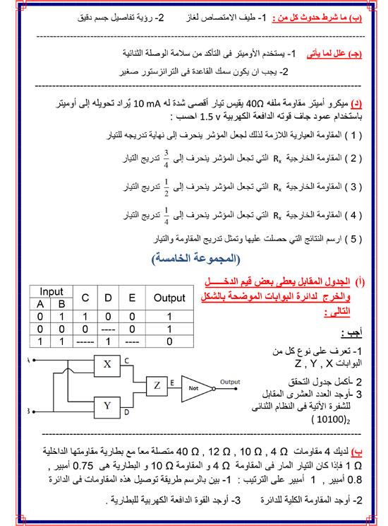 المراجعات النهائية لطلاب الثانوية العامة فى مادة الفيزياء (4)