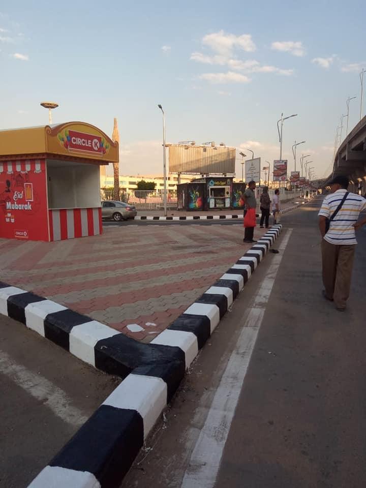 رصف الباركينج الخاص ببوابة استاد القاهرة (10)
