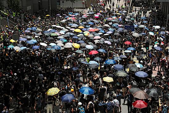 تواصل الاحتجاجات فى هونج كونج