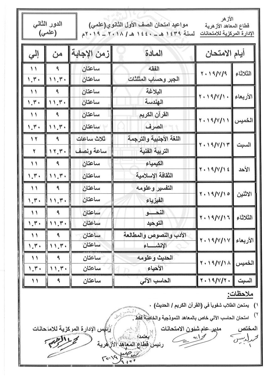 جدول-الاول-الثانوى-علمى-دور-ثانى-2018-2019_2