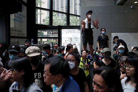 تظاهرات فى هونج كونج