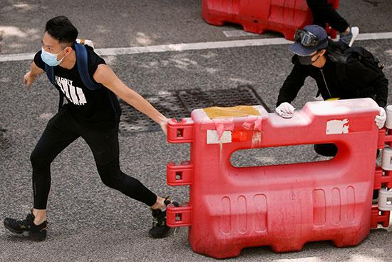 محتجون فى هونج كونج