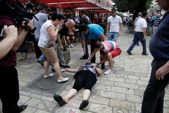 حالات إغماء فى مظاهرات ألبانيا