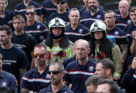 إضراب رجال الإطفاء فى بروكسل