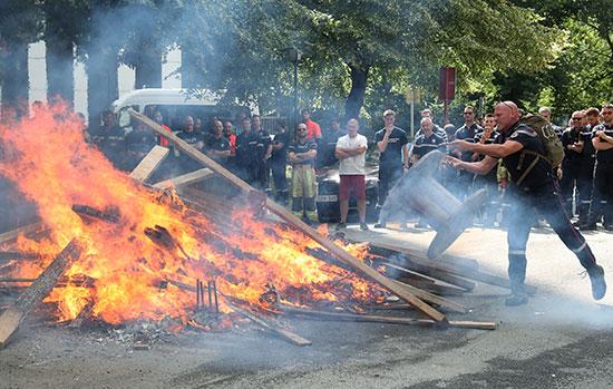 تظاهرات فى بروكسل