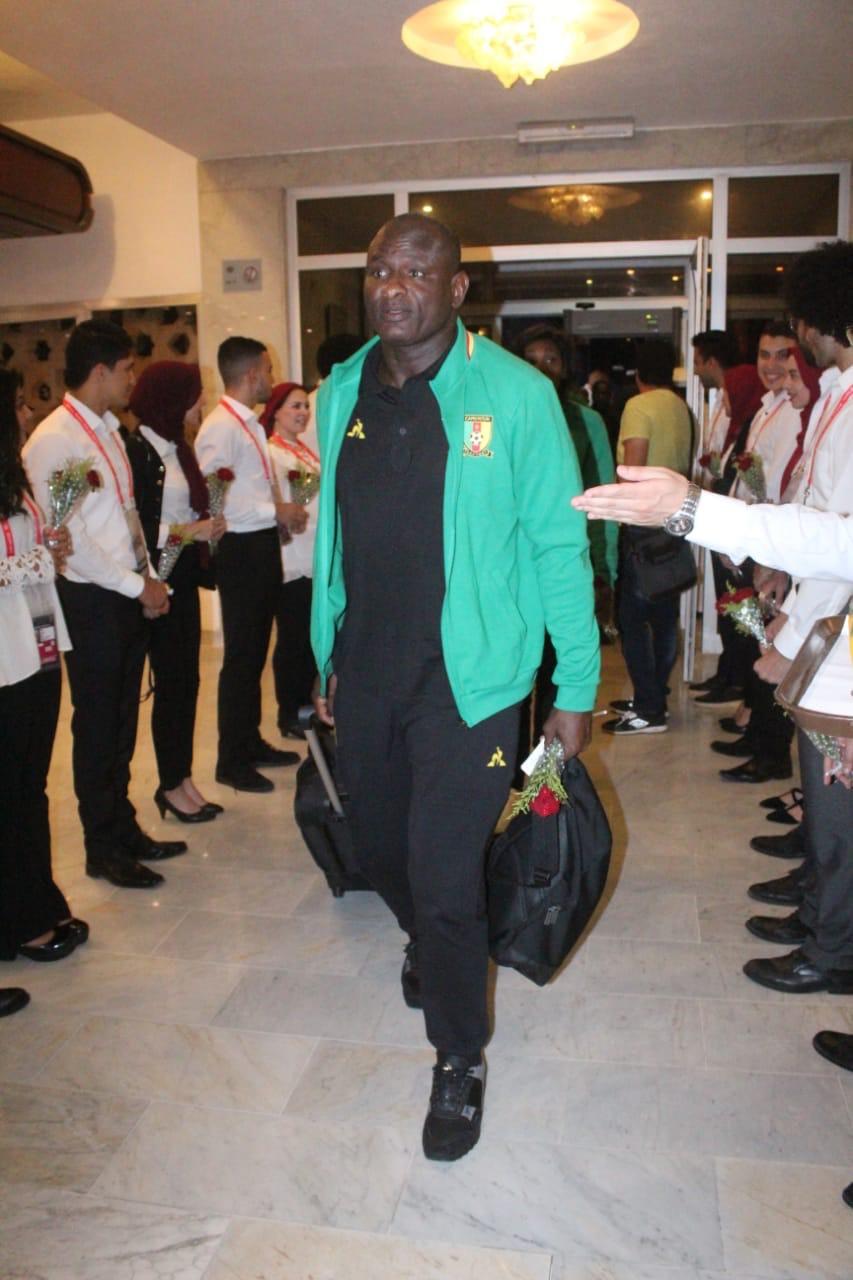 وصول منتخب الكاميرون لمحافظة الإسماعيلية (7)