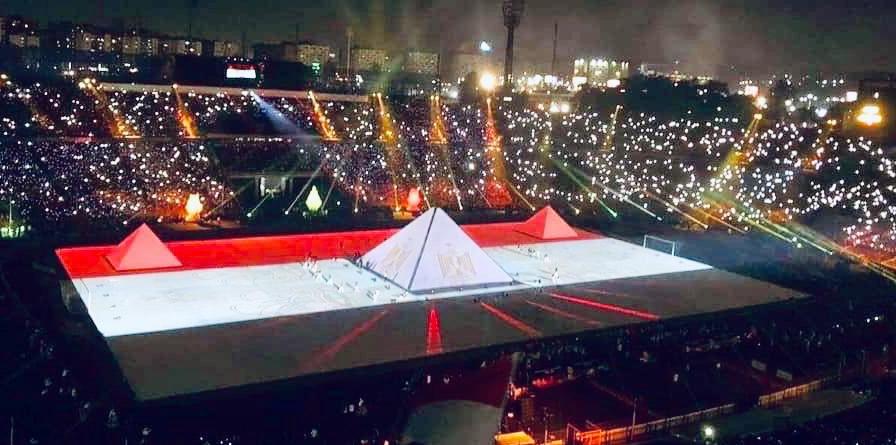 علم مصر يزين ستاد القاهرة