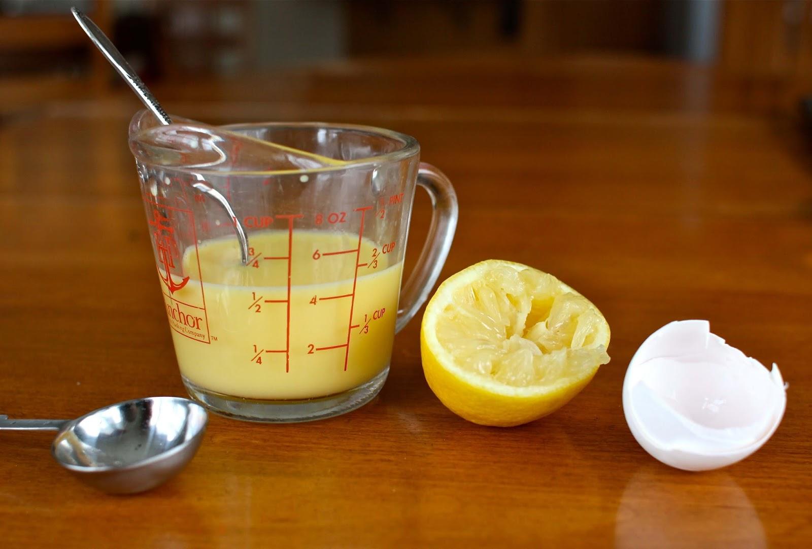 البيض وعصير الليمون