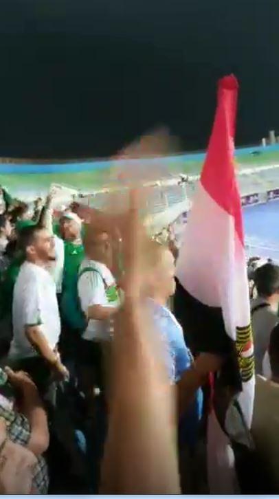 علم مصر فى مدرج جمهور الجزائر