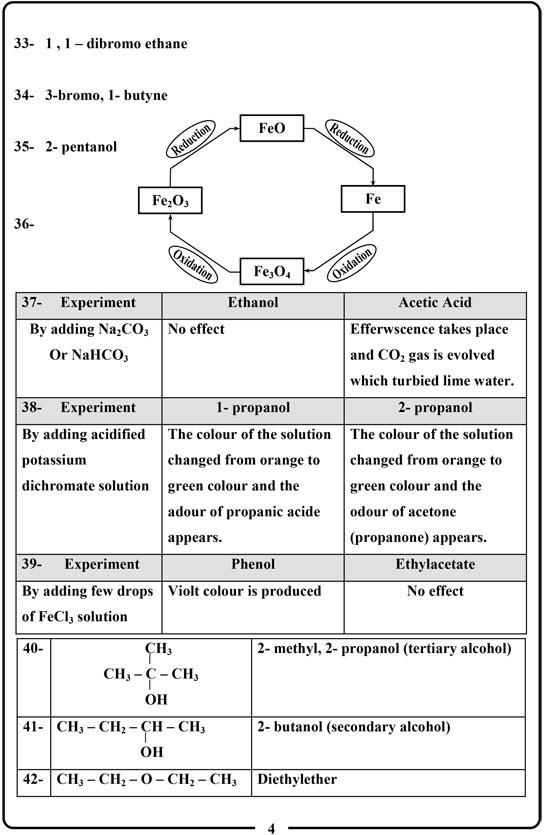اجابة امتحان الكيمياء (4)
