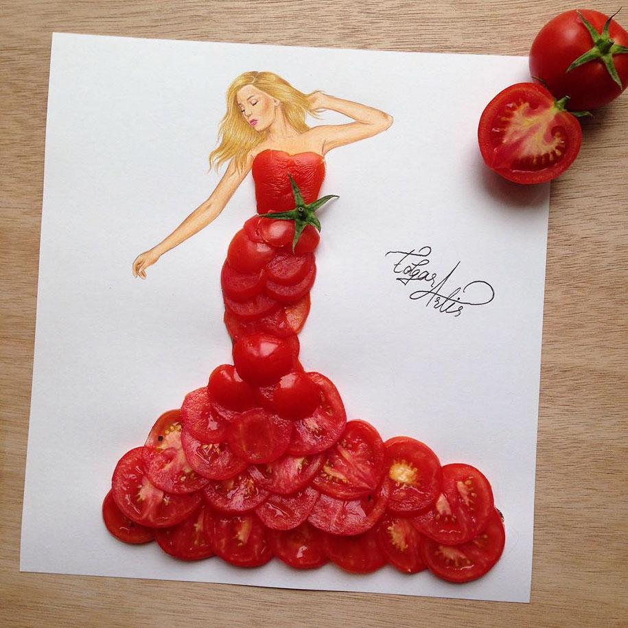 فستان الطماطم