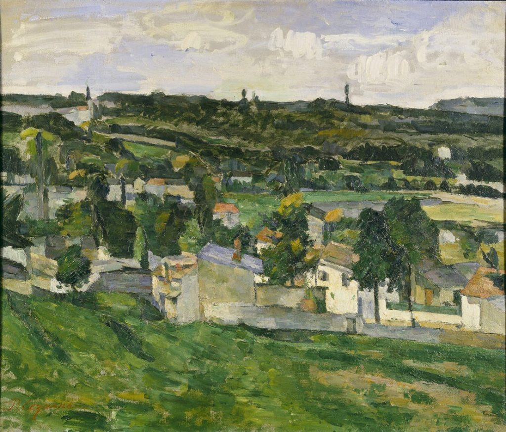 """9. Paul Cezanne's """"View of Auvers-sur-Oise"""""""