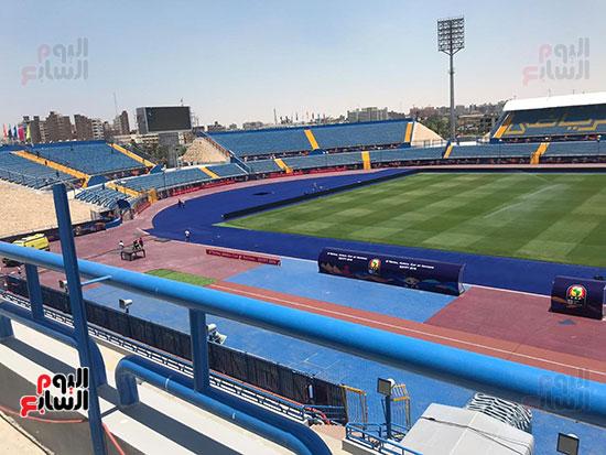 استاد السويس قبل انطلاق المباريات
