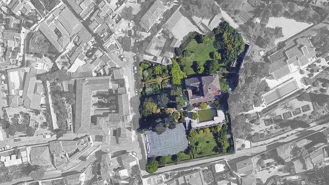 خريطة توضح موقع قصر تميم الجديد فى غرناطة