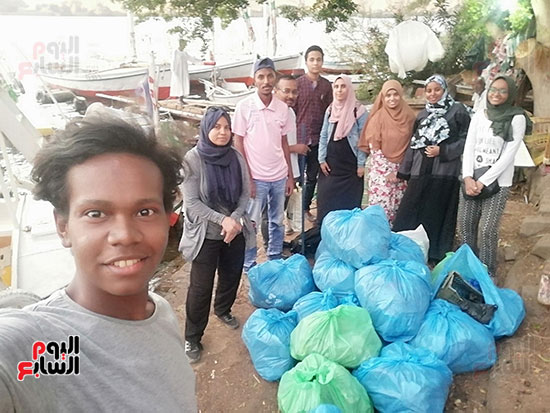 مبادرة شباب ضد البلاستيك بأسوان (5)