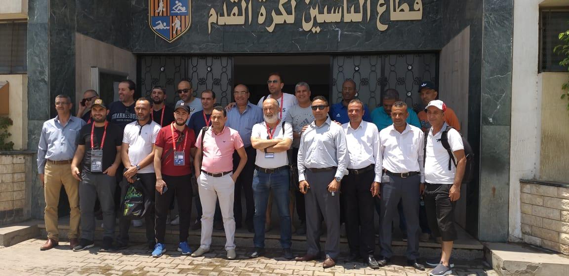 وفد المغرب والجزائر في المقاولون العرب