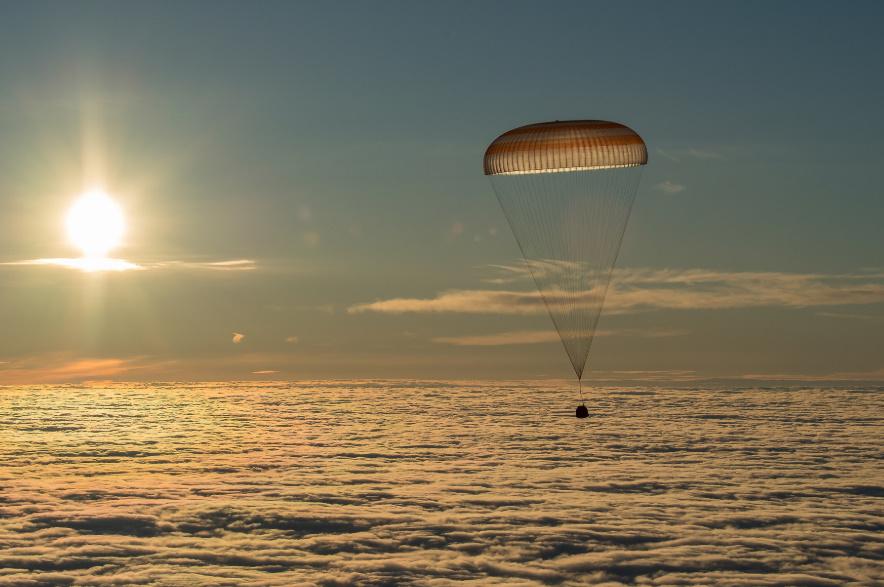 هبوط كبسولة Soyuz MS-11 على الأرض