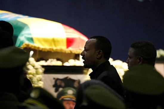 رئيس الوزراء الإثيوبى يحضر الجنازة