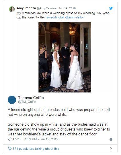 آمى بينزا تكشف حماتى ارتدت فستان فرح فى حفل زفافى