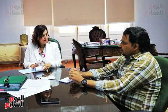 الدكتورة منى محرز ، نائب وزير الزراعة (4)