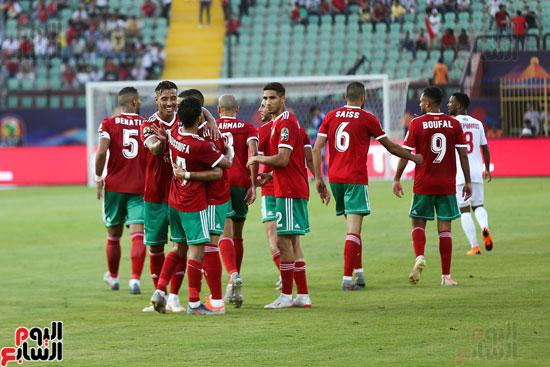 فرحة اللاعبين المغاربة