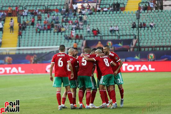 احتفال لاعبي المغرب
