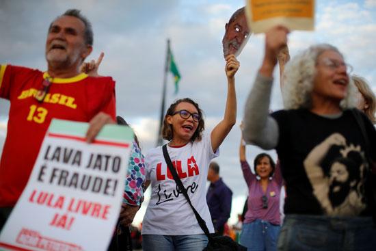 مسيرة مؤيدة للرئيس البرازيلى السابق لولا دا سيلفا