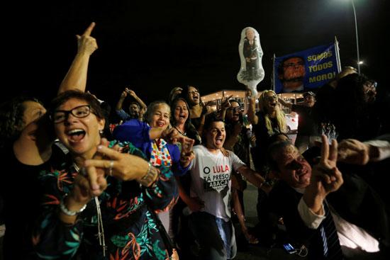 احتفالات برفض طلب للإفراج عن الرئيس البرازيلى السابق لولا دا سيلفا