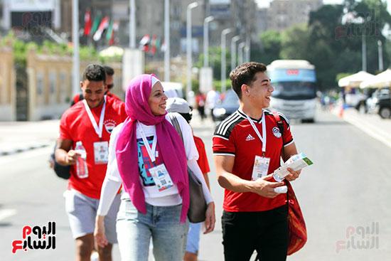 توافد الجماهير المصرية لدعم الفراعنة أمام الكونغو الديمقراطية  (43)