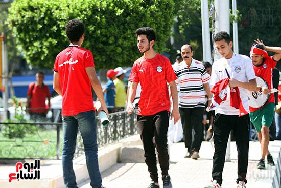 توافد الجماهير المصرية لدعم الفراعنة أمام الكونغو الديمقراطية  (4)